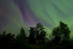 Nordliga ljus 07 10 15 Arkivbilder