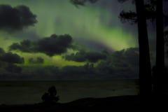 Nordliga ljus 07 10 15 Arkivbild
