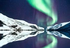 Nordliga ljus aka Aurora Borealis royaltyfria foton