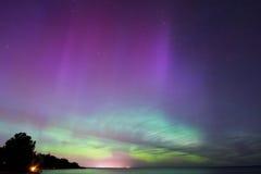 Nordliga ljus, Aurora Borealis Fotografering för Bildbyråer