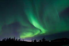 Nordliga ljus Aurora Borealis Arkivfoton