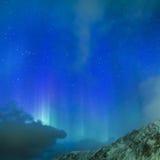 Nordliga ljus Aurora Borealis Over Lofoten Islands i nordlig del av Norge Över den polara cirkeln Royaltyfria Foton