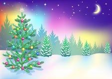 Nordliga ljus för nytt år Royaltyfri Bild