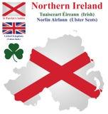 Nordligt - Irland flagga Royaltyfri Bild