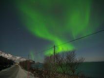 Nordligt ljus Arkivbild
