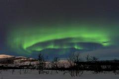 Nordligt ljus i Sverige royaltyfri bild