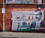 nordligt politiskt för belfast ireland väggmålningar Arkivbild