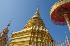 nordligt tempel thailand Arkivbild