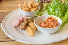 Nordligt thailändskt för `-oeuvres för hors D recept Arkivfoto