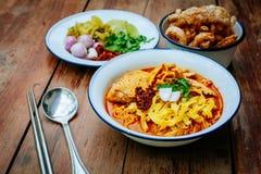 Nordligt thailändskt för thailändsk mat Royaltyfria Foton