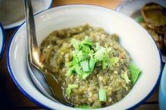 Nordligt thailändskt grönt chilidopp Arkivfoton