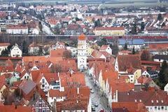 Nordlingen, Бавария, Германия. Взгляд от верхней части Стоковые Фотографии RF
