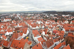 Nordlingen, Baviera, Alemanha. Vista da parte superior Fotos de Stock
