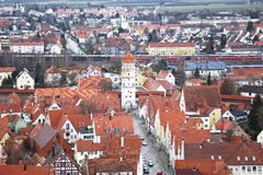 Nordlingen, Baviera, Alemanha. Vista da parte superior Fotos de Stock Royalty Free