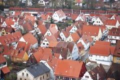 Nordlingen, Beieren, Duitsland. Mening vanaf de bovenkant Royalty-vrije Stock Foto's