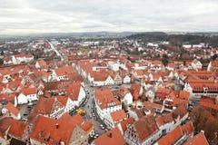 Nordlingen, Beieren, Duitsland. Mening vanaf de bovenkant Stock Foto's