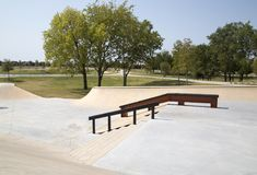 Nordostlig gemenskap parkerar Frisco TX royaltyfri fotografi
