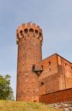 Nordostturm von Schwetz-Schloss (1350) Swiecie, Polen Lizenzfreie Stockfotografie