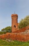 Nordostturm von Schwetz-Schloss (1350) Swiecie, Polen Stockfotografie