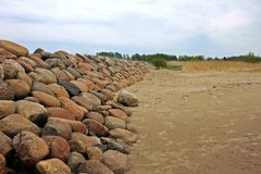 Nordpier Ainazi lettland lizenzfreie stockfotografie