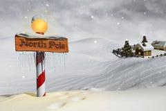 Nordpolen stock illustrationer