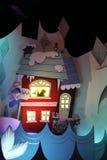 Nordpolen - jultomten hus Royaltyfria Bilder