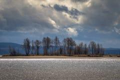 Nordre Oyeren är ett våtmarkområde i Fet Akershus Norge Royaltyfria Bilder