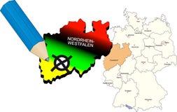 Nordrhein-Westfalenzustandwahl 2010 stockfoto