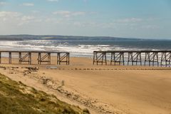 Nordsand-Strand, Hartlepool, Großbritannien Lizenzfreies Stockbild