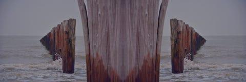 Nordsea, photo reflétée Images libres de droits