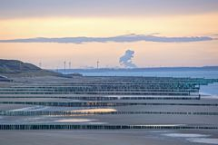 Nordsee in den Niederlanden Stockbild