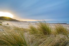 Nordsee in den Niederlanden Lizenzfreies Stockfoto