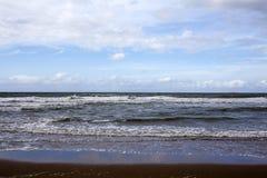 Nordsee gesehen vom Strand in Scheveningen - Holland Lizenzfreie Stockbilder