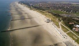 Nordseestrand ausder Luft arkivfoto