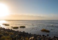 Nordsjön/German hav, lågvatten på det wadden havet arkivbilder