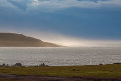 Nordsjönkust efter storm Royaltyfria Foton