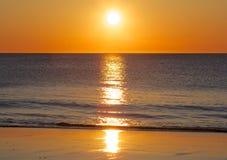 Nordsjönsolnedgång Arkivfoto