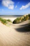 Nordsjönstrand och dyn på Knokke-rånet Arkivbilder