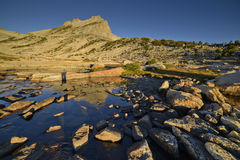 Nordspitze des Bergs Conness am frühen Morgen Stockfotografie