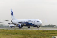 Nordstar airlines Boeing-737 taxiing. Royalty Free Stock Photos