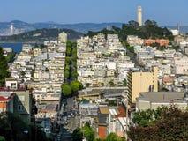 Nordstrand-und Fernschreiber-Hügel, San Francisco Lizenzfreies Stockfoto