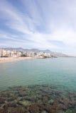 Nordstrand von Sitges (Barcelona, Spanien) Lizenzfreie Stockfotografie