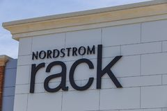 Nordstrom Rack Sign. Lancaster, PA, USA - May 2, 2018: Exterior sign of Nordstrom Rack, a chain of discount fashion retail stores in over 100 locations Stock Photography