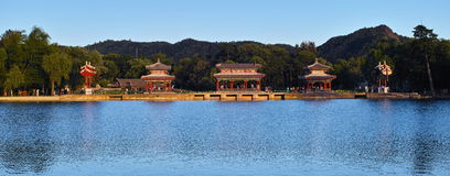 Nordteil der zentralen Linie von Peking-Stadt Stockfoto