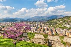 Nordteil von Brescia, Italien lizenzfreies stockfoto