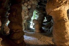 Nordteil von Polen - höhlen Sie in Mechowo aus. Lizenzfreie Stockfotografie