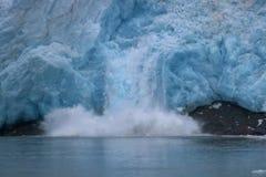 nordvästlig kalva glaciär Arkivbilder