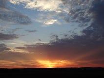 Nordvästlig Oregon soluppgång 2015 Arkivfoto