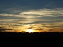 Nordvästlig Oregon soluppgång 2015 Royaltyfri Fotografi