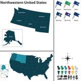 Nordvästligt av Förenta staterna Arkivbild